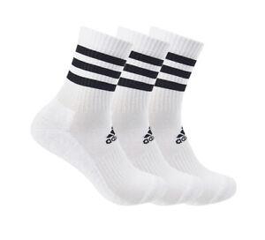adidas Cushion Crew Socks 3PP Tennis Running Badminton Soccer Yoga NWT DZ9346