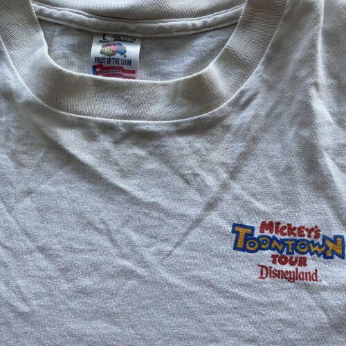 Vintage Disney Toon Town Tour 90's Promo Tee Large