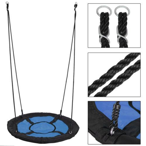 "Large 40/"" Oxford Saucer Web Tree Swing Detachable Safe PE Rope YEAR-ROUND FUN"