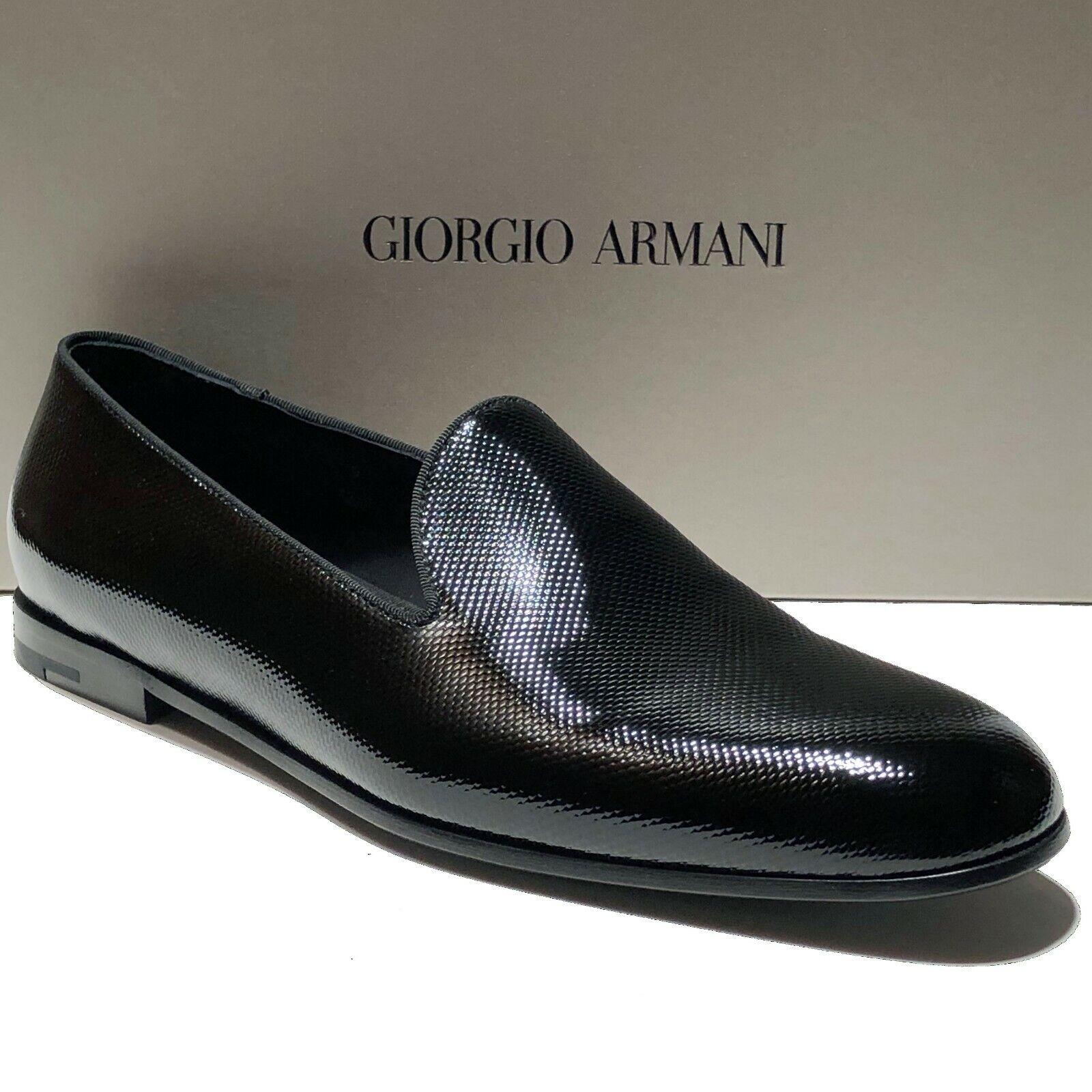 Armani nero Leather Fashion Men's Loafers Dress scarpe 8.5 Formal Tuxedo Casual