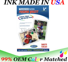 100pk Dye Sublimation Heat Transfer Paper Premium 95 Transfer Rate Dye Sub Ink