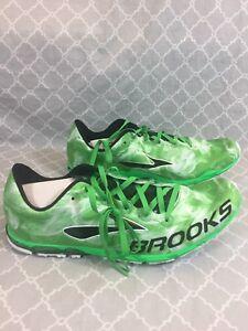 1de1047381b Brooks Men s Green Featherlite Mach 15 Racing Track XC Shoes