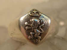 NARNIA 14K GOLD STERLING RING SZ 5 WRONG WILL BE RIGHT WHEN ASLAN COMES IN SIGHT