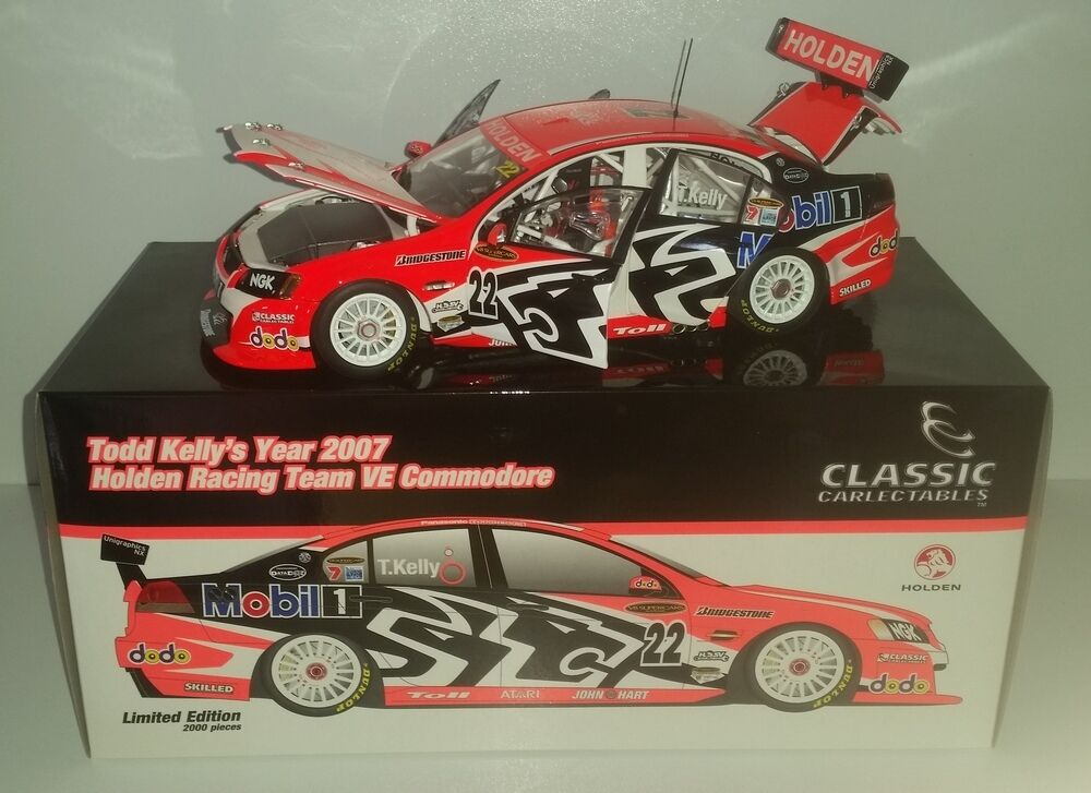 1 18 Scale Classic Carlectables Todd Kelly 2007 HRT VE Commodore 18292