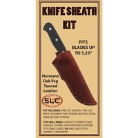 Springfield Leather Co Small Hermann Oak Veg Tan Leather Knife Sheath Kit 5-1/4