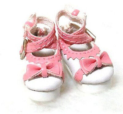 Pink & White Shoes fits Blythe Pullip DAL Barbie Lati