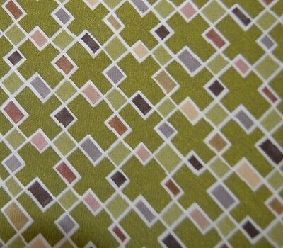 """10 yds Green /"""" Block Party Grass /"""" Tapestry Upholstery Fabric txef"""