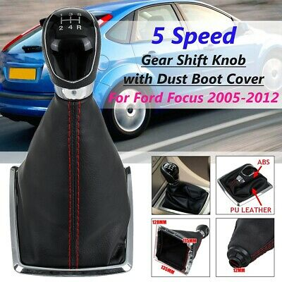 Car Shift Gaiter Boot Cover Gear Shifter Knob Stick Head Lever for Ford Focus 2005-2012 Car Gear Shift Stick Cover