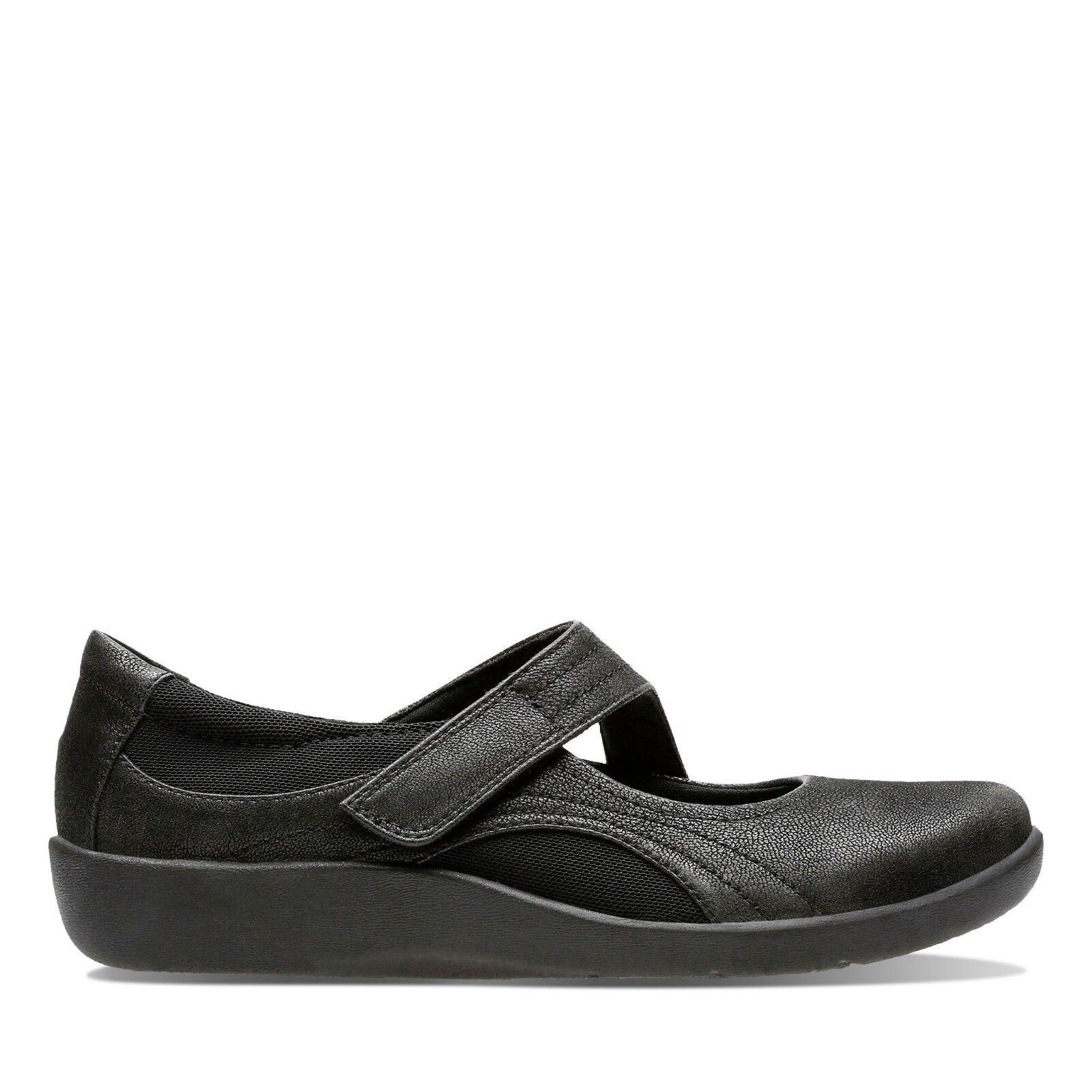 Clarks schwarz Damenss shoe Sillian Bella schwarz Clarks E width fitting 5c2503