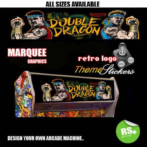 Double Dragon graphique Arcade Artwork MARQUEE Autocollants Graphique//Toutes Les Tailles