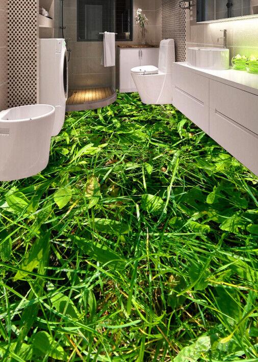 3D Lush Green Weed 6 Floor WallPaper Murals Wall Print 5D AJ WALLPAPER UK Lemon