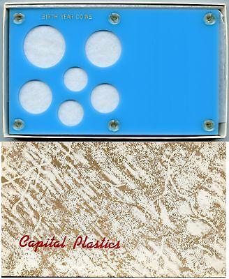 Capital Plastic 2 x 7.5 6 Coin Holder Birth Year Coins Silver Eagle 40.6mm Black