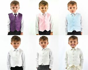 ab48d6e4fb906 Boys Suits Waistcoat Suits Boys Wedding Suits 4pc Baby Page Boy ...