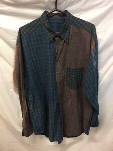 VTG-Long-Sleeve-Button-Down-Shirt-Mens-Sz-XL
