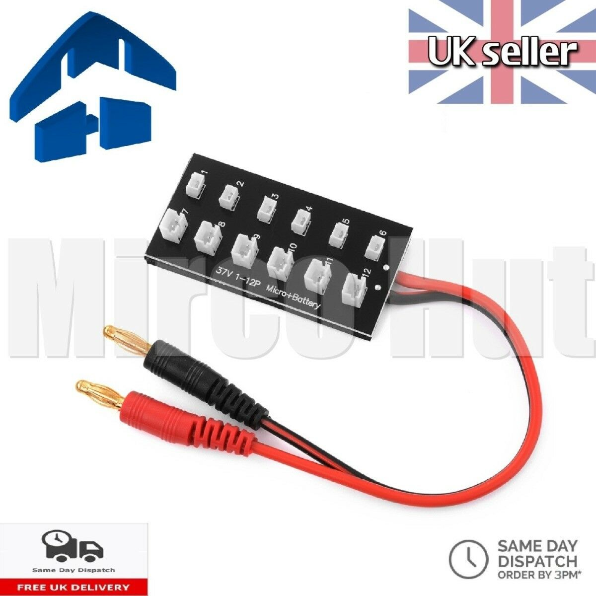 Lipo Battery 1S Balance Parallel Charging Board Ultra Micro JST-PH -mCPX E-flite
