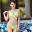 Women-039-s-2-Piece-Bikinis-Tied-Knot-Front-T-shirt-Top-High-Waist-G-string-Swimsuit thumbnail 32