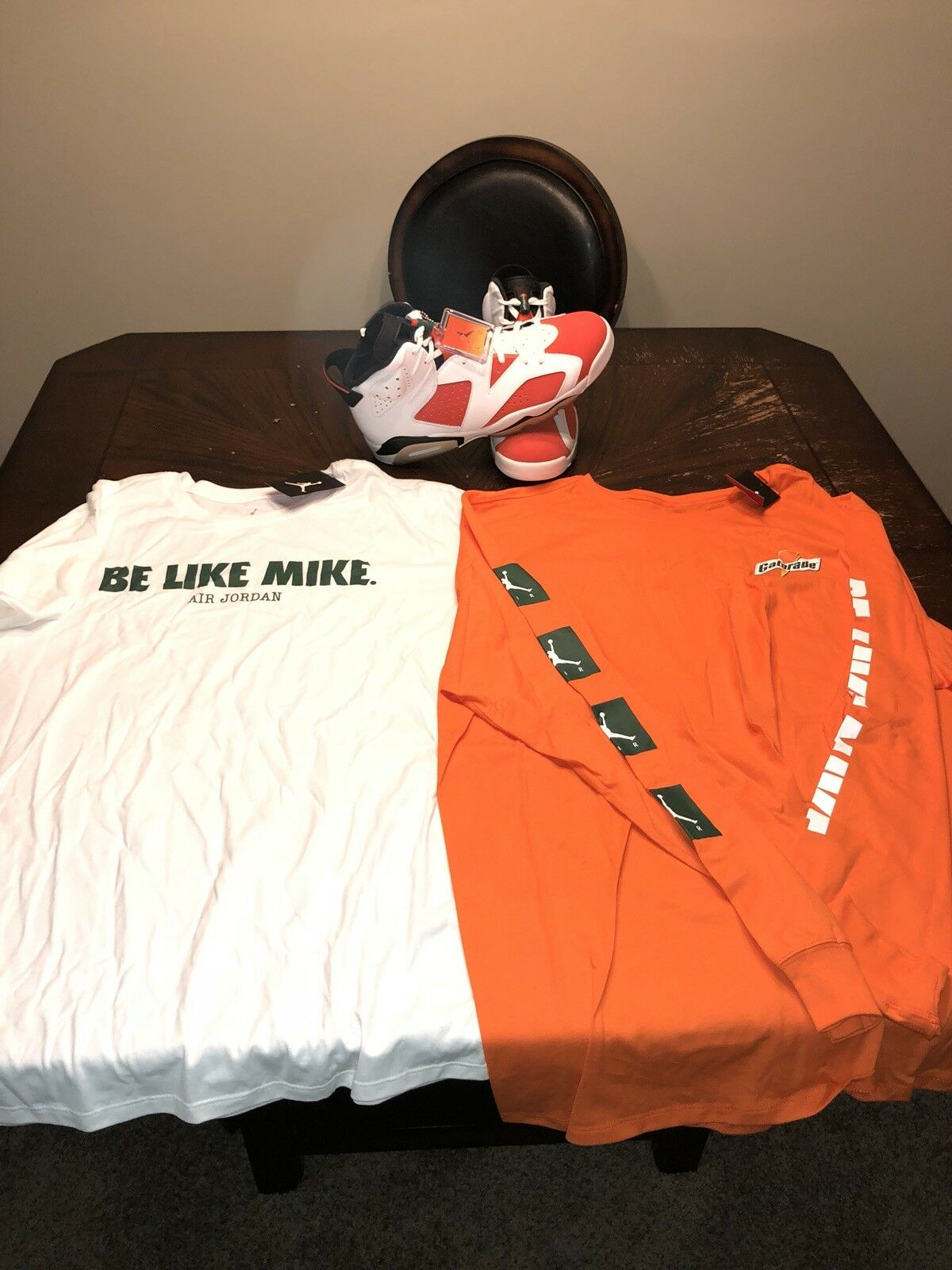 Air shirts. jordan 6 retro (mike) mit zusammenpassende shirts. Air 1a3c34