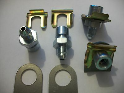 """FMR PERFORMANCE BRASS FITTING 1//8/"""" NPT TO 3//8/""""-24 FEMALE INVERTED FLARE 8 PACK"""