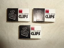Small Binder Clips 3 Packages Of 12