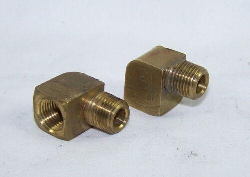 wgp pump hose air FREE SHIP PAIR of 1//8th NPT 90 Degree Brass Elbows agd used