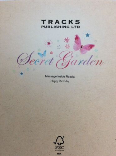 "Girls birthday cards from SECRET GARDEN by TRACKS 6/""x6/""/"" F3 RRP £2.49"
