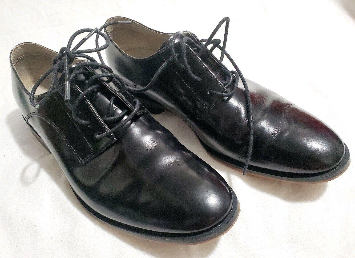 Black Clarks Leather Cuir black shoes Size 8.5 M