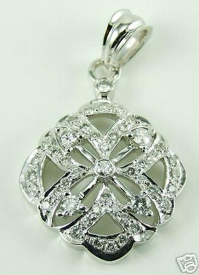 a0675861e4608 gold WHITE SOLID 14K LADIES DIAMOND PENDANT 4CT 3 thcr175496519-Diamond
