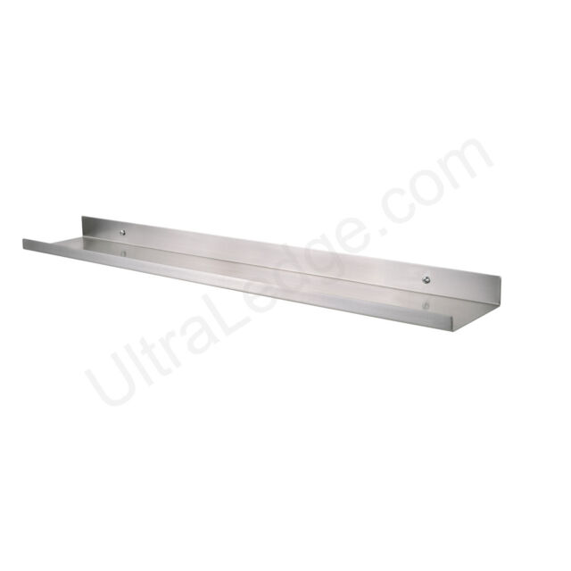 5ft X 5in Ultraledge Stainless Steel Floating Shelf Picture Ledge Art Display