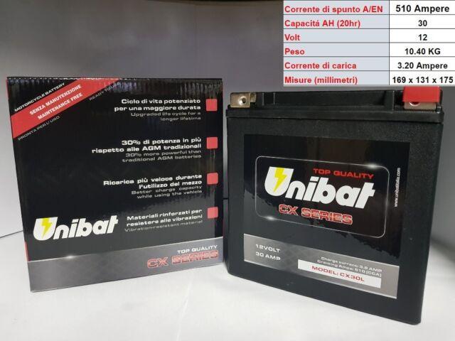 Batterie Moto Unibat Cx 30 12V 30AH 510CCA BMW K 100