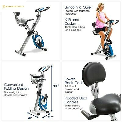 Xterra Fitness Fb350 Folding Exercise Bike Silver Ebay
