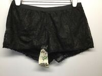 Mimi Chica Black W/gold Metallic Lace Shorts Elastic Waist Lined