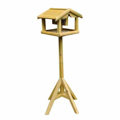 New Bird Table With Buit In Feeder Wild Birds Care Garden Seeds Nuts Foods