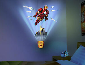 Image Is Loading Uncle Milton Wild Walls Iron Man Light Ironman