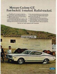 1968 Mercury White Cyclone GT Vintage Ad