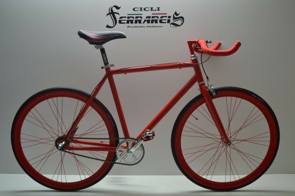 Fixed bike single speed bici scatto fisso nexus 3v rossa personalizzabile