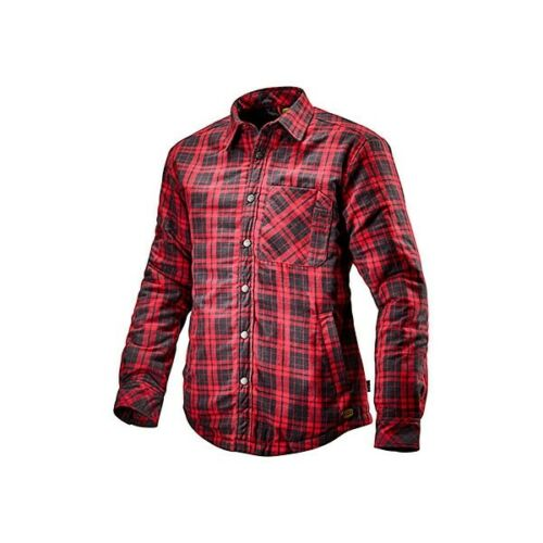 702.172758 Camicia da lavoro Diadora Padded Shirt Nero//Rosso