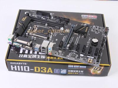 Motherboard DDR4 FOR GIGABYTE GA-H110-D3A LGA 1151 Intel SATA 6Gb//s ATX Intel MX