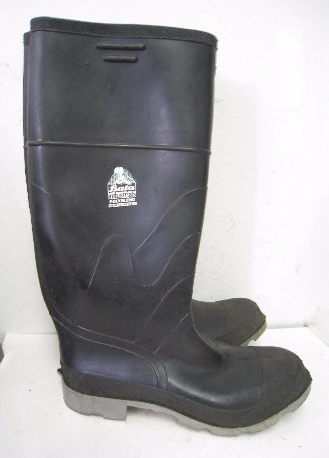 Bata Industrials Black 16  Safety Gumboots Size 10 , Work boots PPE Waterproof