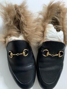 Jordaan Leather \u0026 Lamb Fur Loafers 37