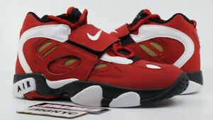 533d10860857 NIKE AIR DIAMOND TURF II NEW SIZE 8.5 VARSITY RED WHITE METALLIC ...