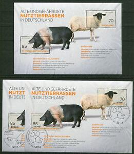Bund-Block-81-BRD-3261-3262-postfrisch-oder-gestempelt-ESST-Bonn-Berlin