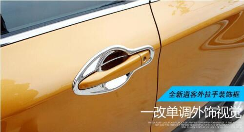 ABS Chromed Door Handle Cover Bowl Trim 8PCS For Nissan Qashqai J11 2014-2017