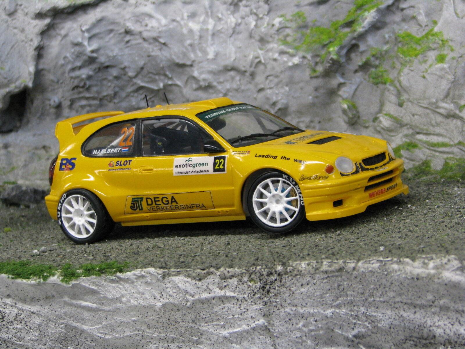 QSP Toyota Corolla WRC 1 24  22 Temmink   Elbert Exotic verde Rally 2007