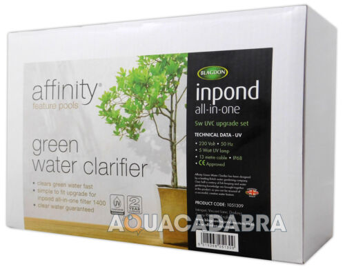 BLAGDON 5W AFFINITY INPOND UV CLARIFIER UVC FOR HALF MOON//OCTAGON POND GARDEN