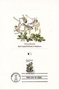 RéAliste First Day Of Issue / Fdc / Oiseaux & Fleurs Des 50 Etats Des Usa / Massachusetts Avec Une RéPutation De Longue Date