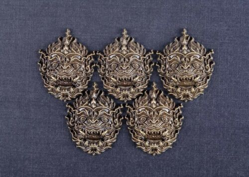 6PCS 33*42MM Japanese Demon Ghost Antique Brass Wallet Conchos For Leather Craft