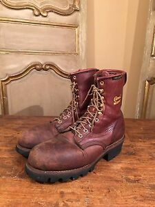 VINTAGE-CHIPPEWA-SCOUT-LOGGING-HIKING-ENGINEERING-MENS-BOOTS-SIZE-8-W