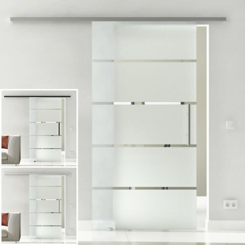 opt. LEVIDOR Slimline Glasschiebetür Design Berlin SoftStop SoftClose EX1SXX