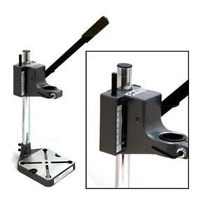PLUNGE-POWER-DRILL-PRESS-STAND-BENCH-PILLAR-PEDESTAL-CLAMP-WITH-DEPTH-GAUGE
