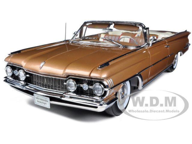 aquí tiene la última 1959 Oldsmobile   98  Open Converdeible Converdeible Converdeible Bronce Mist Metálico 1 18 SunEstrella 5235  artículos de promoción